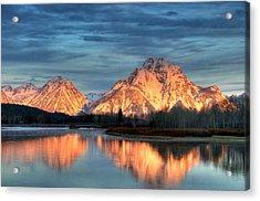 Mount Moran Acrylic Print by Steve Stuller