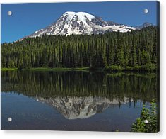 Mount Rainier From Reflection Lake Acrylic Print by Bob Noble Photography