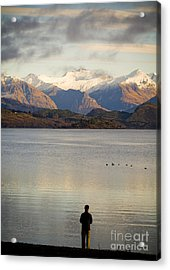 Mountain Dawn Acrylic Print by Tim Hester
