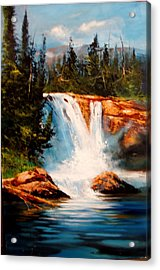 Mountain Falls Acrylic Print by Robert Carver