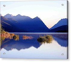Acrylic Print featuring the photograph Mountain Sunrise by Gerry Bates