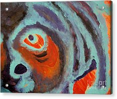 Mr Pugglesworth Aint Happy Acrylic Print by Laurette Escobar