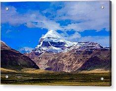 Mt Kailash. Acrylic Print by Kirill Kamionsky