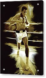 Muhammad Ali Boxing Artwork Acrylic Print