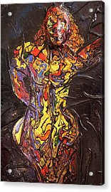 Multicolored Woman Acrylic Print