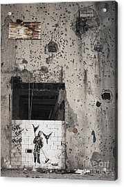 Mural In Beirut Lebanon Acrylic Print