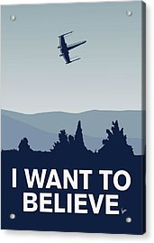 My I Want To Believe Minimal Poster-xwing Acrylic Print