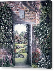 Acrylic Print featuring the painting My Secret Garden by Rosemary Colyer