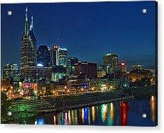 Nashville Cityscape Acrylic Print by Patrick Collins