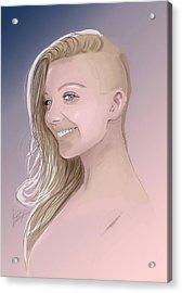 Natalie Acrylic Print by Jason Longstreet