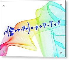 Navier-stokes Equation Acrylic Print