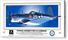Acrylic Print featuring the drawing Navy Corsair 29 by Kenneth De Tore