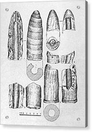 Neolithic Phallus Figures Acrylic Print by Granger