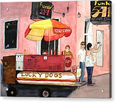 New Orleans Lucky Dogs Acrylic Print