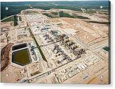 New Tar Sands Plant Being Constructed Acrylic Print by Ashley Cooper