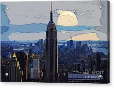 New York City Acrylic Print by Celestial Images