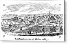 New York Salina, 1841 Acrylic Print