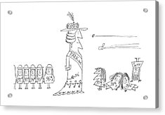 New Yorker December 7th, 1968 Acrylic Print by Saul Steinberg