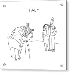 New Yorker July 29th, 1944 Acrylic Print by Saul Steinberg