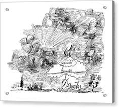 New Yorker November 7th, 1964 Acrylic Print by Saul Steinberg