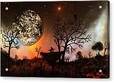 Night Of The Scarecrow  Acrylic Print