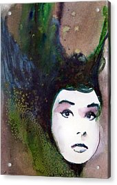 Acrylic Print featuring the painting Nina by Ed  Heaton