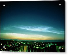 Noctilucent Clouds Acrylic Print by Pekka Parviainen/science Photo Library