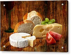 Norwegian Jarlsberg And Camembert Acrylic Print