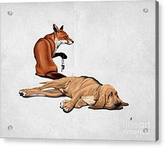 Acrylic Print featuring the drawing Not So Wordless by Rob Snow