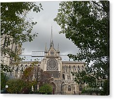 Acrylic Print featuring the photograph Notre Dame Cathedral by Deborah Smolinske