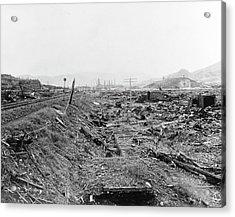 Nuclear Destruction At Nagasaki Acrylic Print by Us Navy