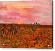 Ocean City Sunset Acrylic Print by Vadim Levin