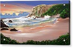 Ocean's Last Light Acrylic Print by Anthony Fishburne