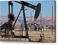 Oil Production Acrylic Print by Jim West
