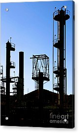 Oil Refinery Acrylic Print by Henrik Lehnerer