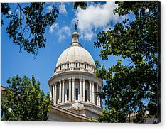 Oklahoma State Capital Dome Acrylic Print by Doug Long