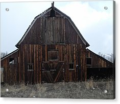 Old Barn Acrylic Print by Yvette Pichette