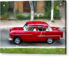 Acrylic Print featuring the photograph Red Bel Air by Juan Carlos Ferro Duque
