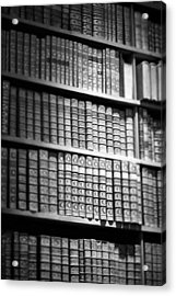 Old Books Acrylic Print by Chevy Fleet