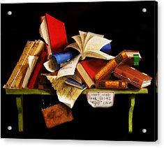 Old Books For Sale Acrylic Print