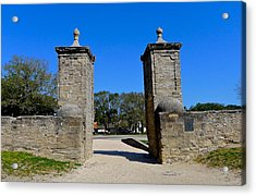 Old City Gates Of St. Augustine Acrylic Print