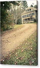 Old House On The Hill Acrylic Print by Edward Fielding
