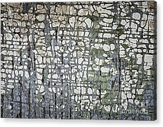 Old Painted Wood Abstract No.6 Acrylic Print