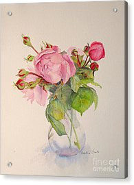 Acrylic Print featuring the painting Old Roses by Beatrice Cloake