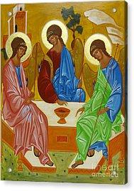 Old Testament Trinity Acrylic Print by Joseph Malham
