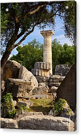 Olympia Ruins Acrylic Print by Brian Jannsen