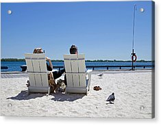 Acrylic Print featuring the photograph On The Waterfront by Keith Armstrong