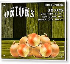 Onion Farm Acrylic Print by Marvin Blaine