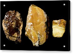 Opaque Amber Acrylic Print by Pascal Goetgheluck/science Photo Library