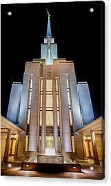 Oquirrh Mountain Temple 1 Acrylic Print by Chad Dutson